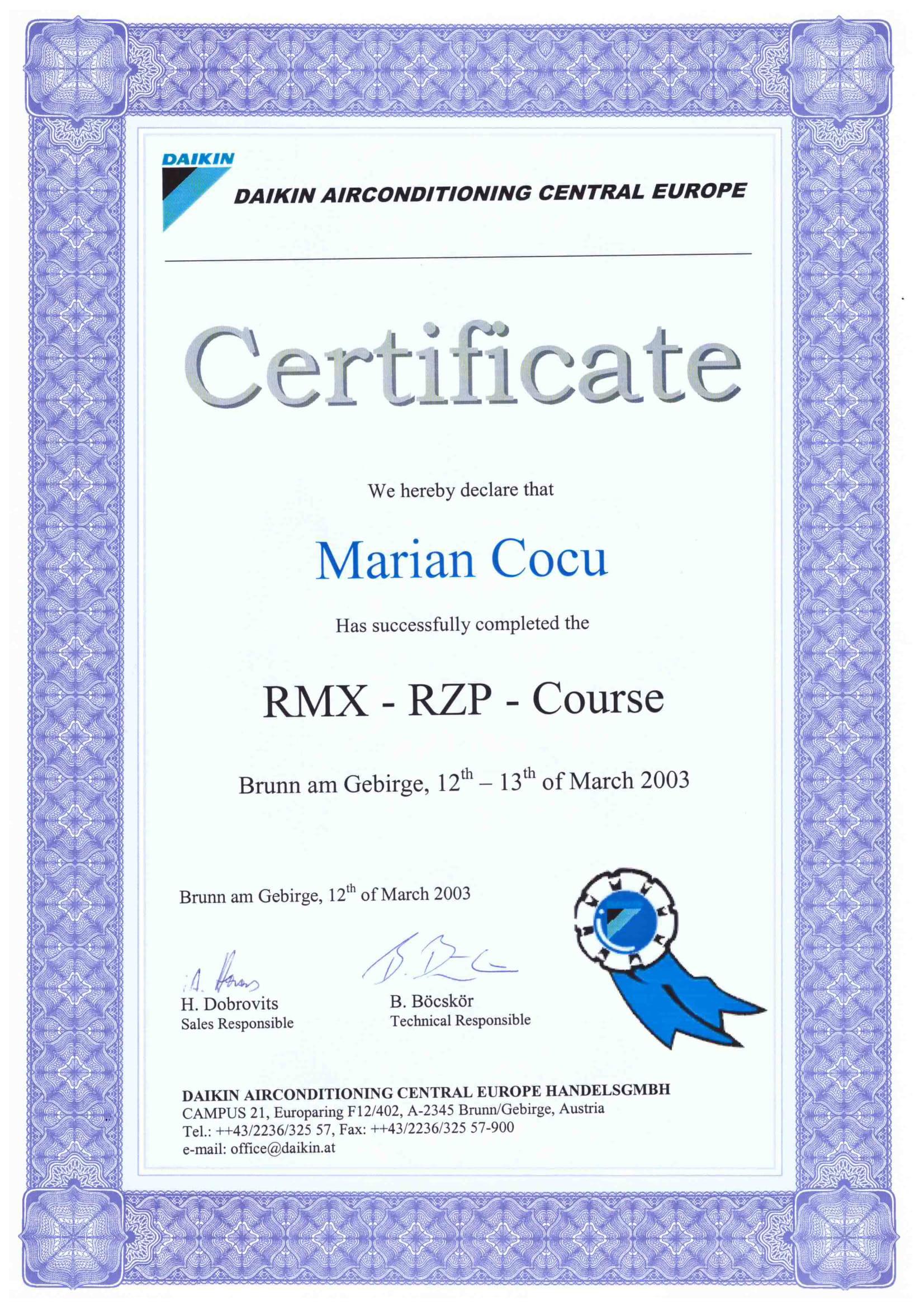 Certificat PMX - RZP_COCU MARIAN