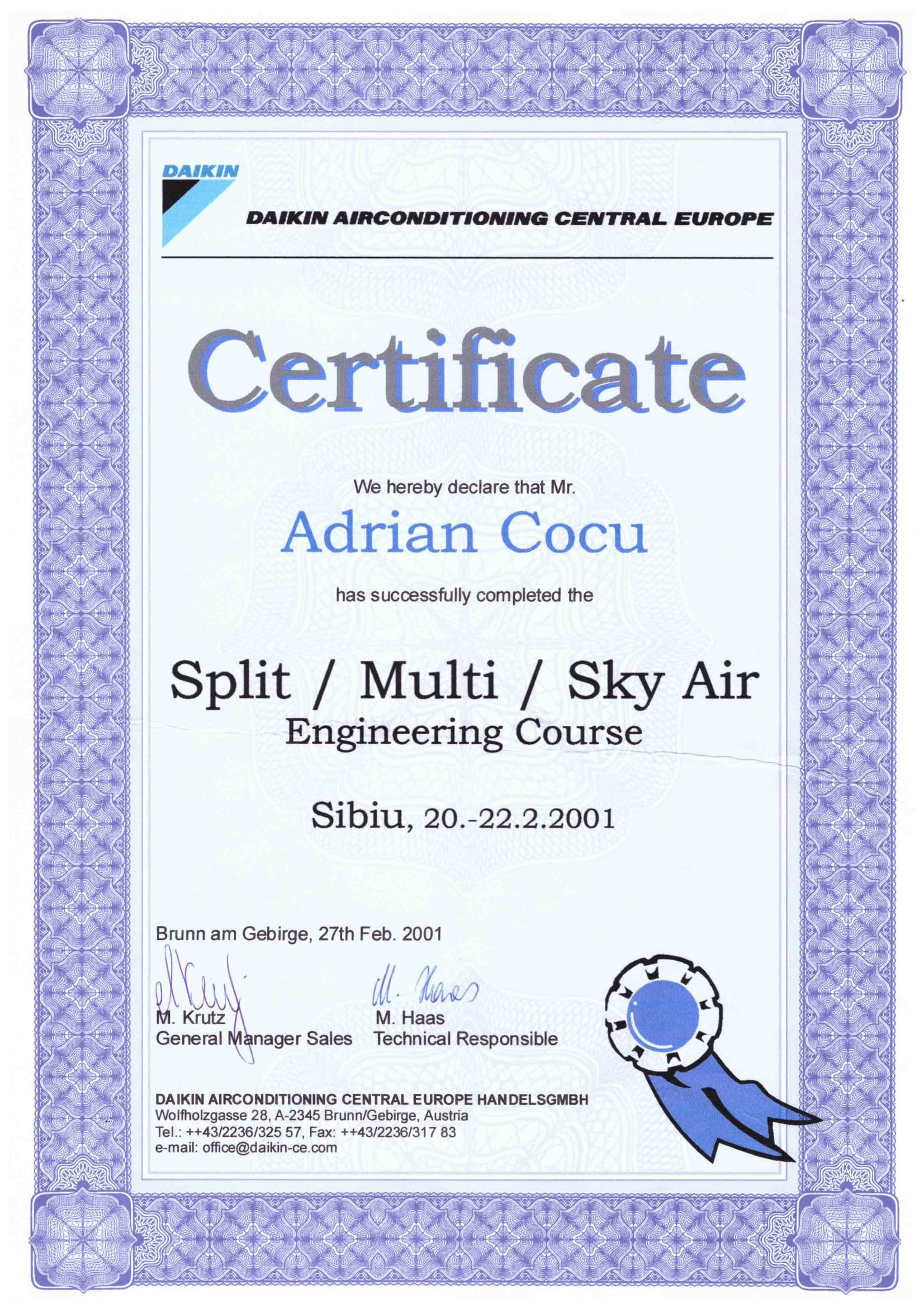 Certificat SPLIT_MULTI_SKY AIR ENGINEERING COURSE_COCU ADRIAN
