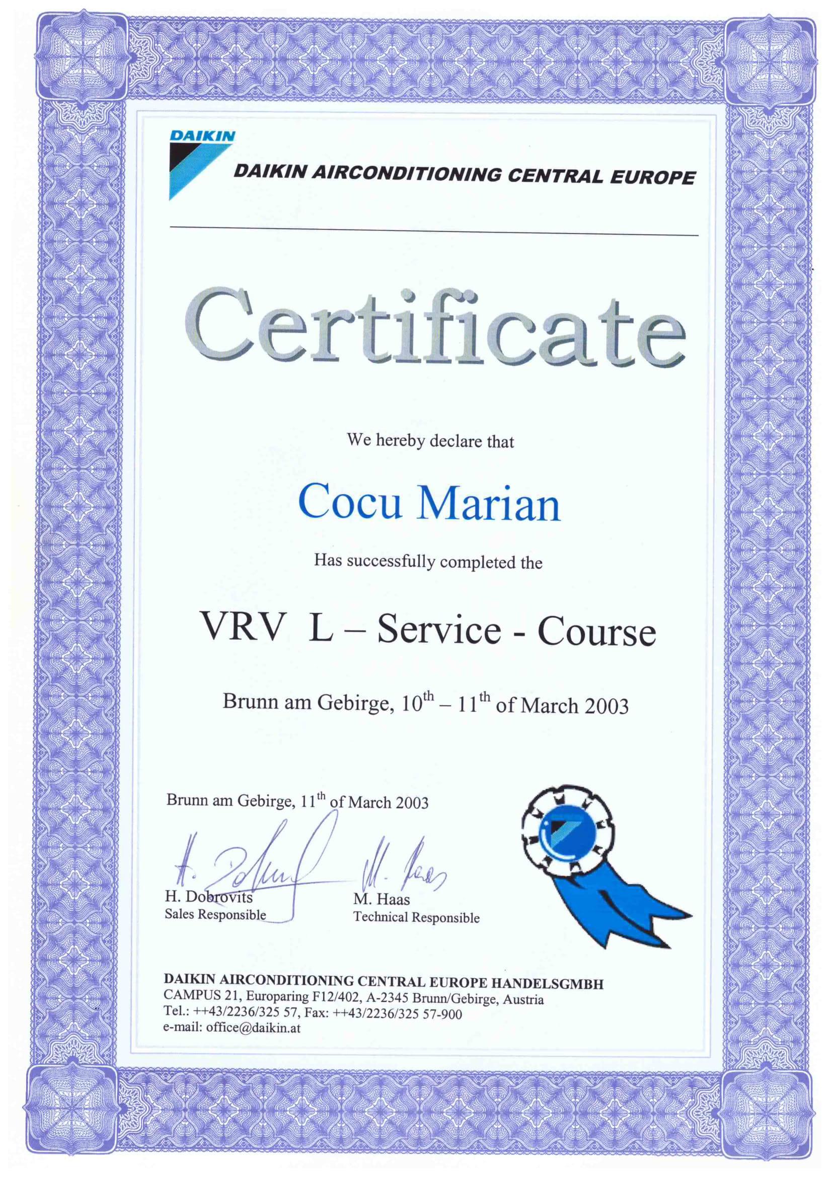 Certificat VRV - L_COCU MARIAN